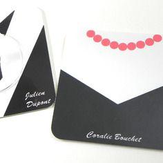 Dessous de verre personnalisé marque place robe de soirée femme sous-bock sous-verre décoration table mariage