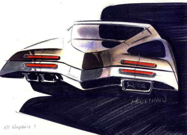 John T. Houlihan sketch of 1971 Buick Riviera. I love that man and I love www.bu…