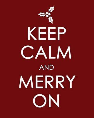keep calm and merry on  holiday season christmas art