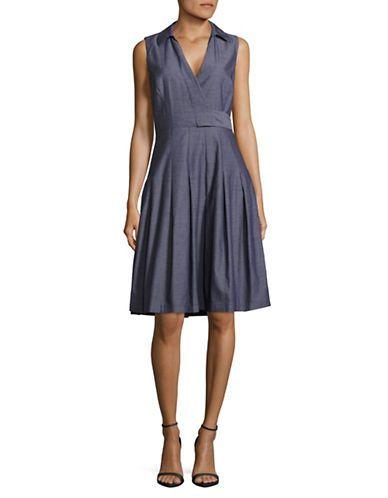 IVANKA TRUMP Cotton Surplice Dress SIZE 6 @ HUDSON'S BAY $100 :: sale $70 (2017)