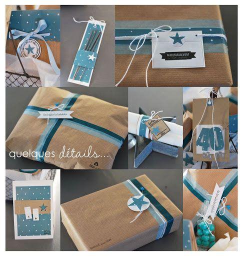 emballage cadeau bleu