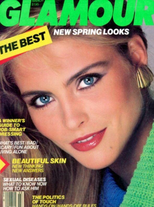 1987 Glamour Magazine Kim Alexis Africa Abortion Rosie Vela Frederique Ads 80s