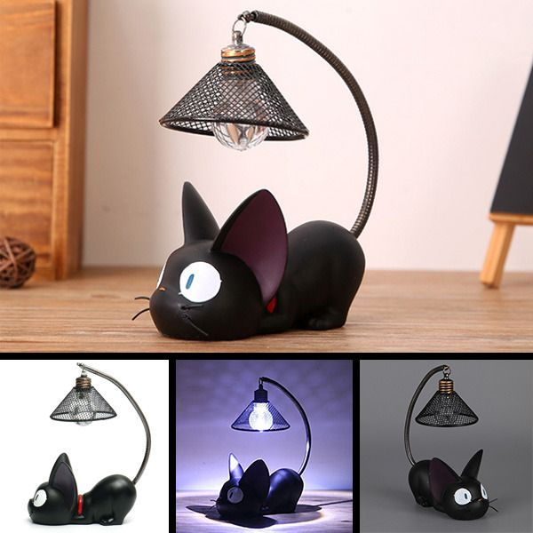 New Cute Black Cat Night Light Lamp Home Decoration Gift