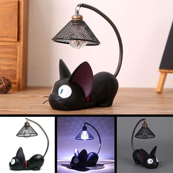 New Cute Black Cat Night Light Lamp Home Decoration Gift Small Cat