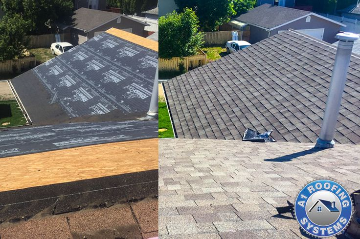 roof replacement - hail damage - roofing contractor Calgary owens corning