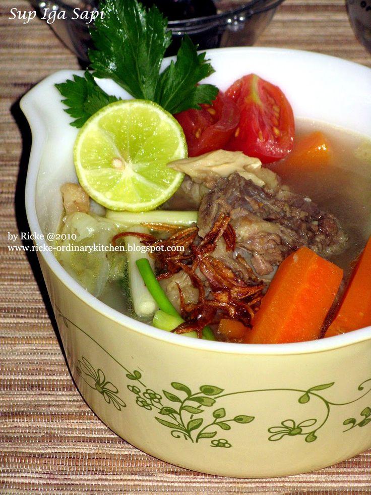 Just My Ordinary Kitchen...: SUP IGA SAPI