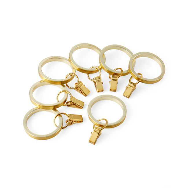 Cb Brass Curtain Rings Set Of 7 Curtains With Rings Curtain