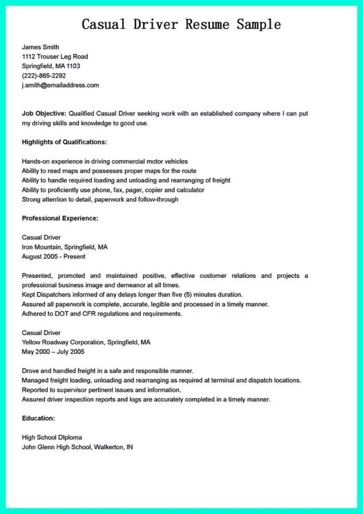 Simple but serious mistake in making cdl driver resume in