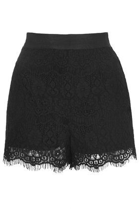 Every girl needs these shorts, we're obsessed. #Topshop #blackshorts #lace