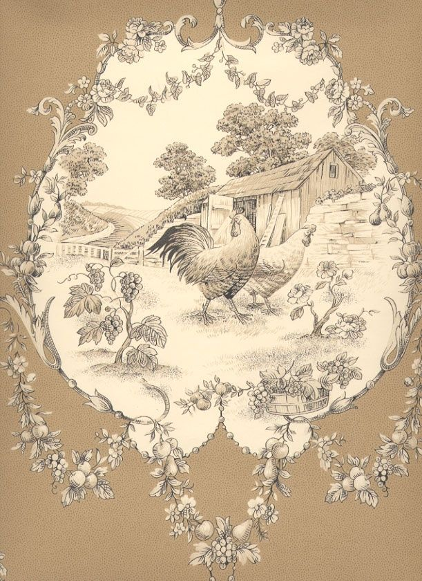 love these chickens a bit of French Toile