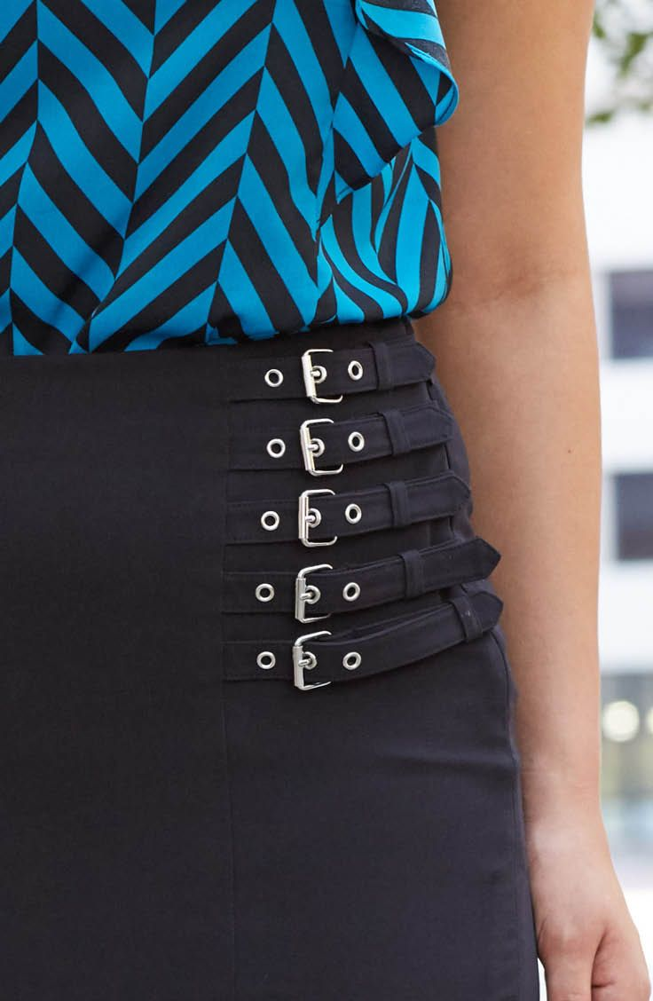 The black pencil skirt is a workingwoman's go-to piece. It's classic, sleek and goes with just about everything! That's why we love this Worthington pencil skirt with buckle detail. It gives just the right amount of personality and style, but still transitions beautifully from spring weather to cooler fall months. Click the image to shop the skirt!