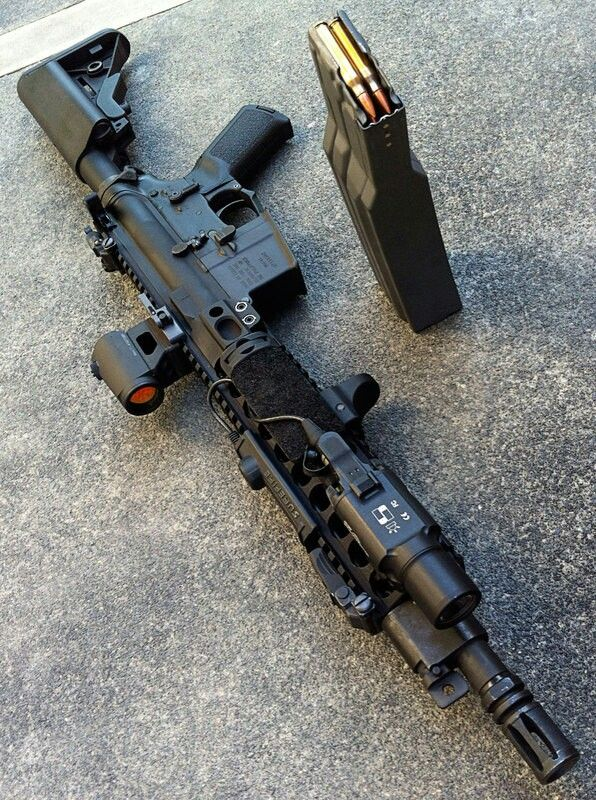 Tricked out AR-15 with 60 round mag