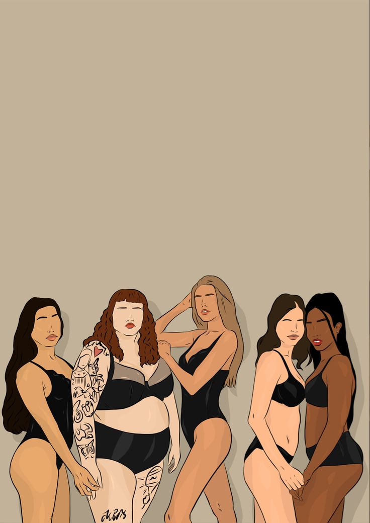 Female empowerment, every body is beautiful and unique. Drawing by @nowayholsay Woman Illustration, Digital Illustration, Positive Art, Feminist Art, Hippie Art, Body Love, Cartoon Art, Women Empowerment, Art Girl