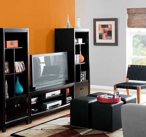 5 Bold Accent Wall Ideas You Can Finish In 2 Hours: Classic Bold Orange Accent Wall