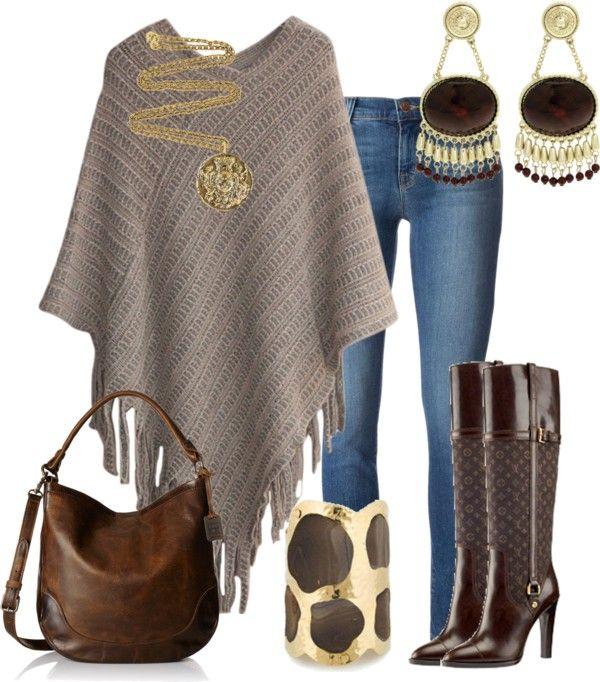 Outfits de Moda ...Me Tomo Cinco Minutos: Ponchos y Capas
