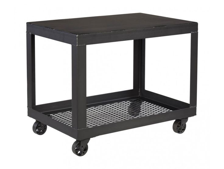 Industrial Utility Cart A metal utility cart, offering industrial, imperfect style suited for use in office, restaurant or any other commercial environment. #Industrial #Office #MadeInUSA #AmericanMade #Cart #Utility