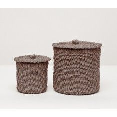 Pigeon Poodle Chelston Bathroom Canister Set In Taupe Currently On Backorder