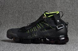 8129605b6b4fd Attractive Nike Air Vapormax Flyknit Zipper Black Green 899473 005 Men s  Running Shoes
