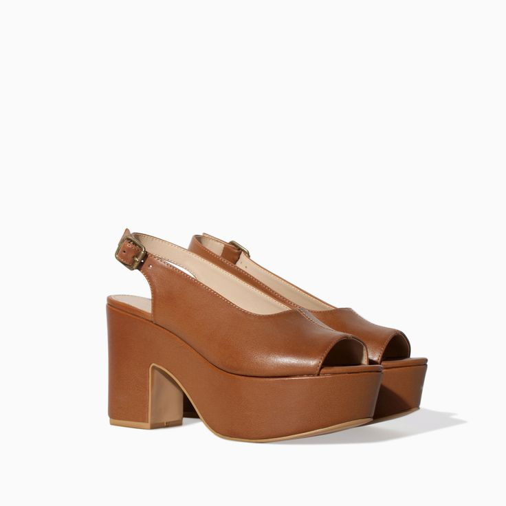RETRO WEDGE SANDAL - Shoes - TRF - SALE | ZARA Canada Ref. 3625/301 99.90 CAD UPPER 100% POLYURETHANE LINING 100% POLYURETHANE SOLE 100% VULCANIZED RUBBER