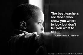The best teachers are those who show you where to look but don't tell you what to see.