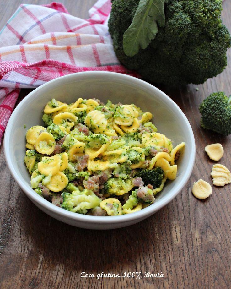 Orecchiette con broccoli e salsiccia - ricetta senza glutine