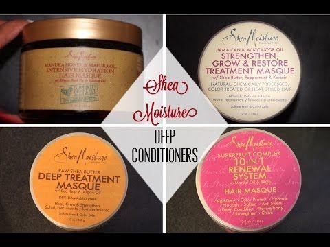 Shea Moisture Deep Conditioner Comparison | Ashley Harris - YouTube