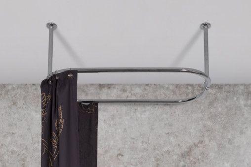 Chrome Oval Shower Rail
