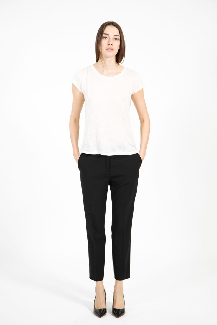 Saville Cropped Pants Black by Acne Studios