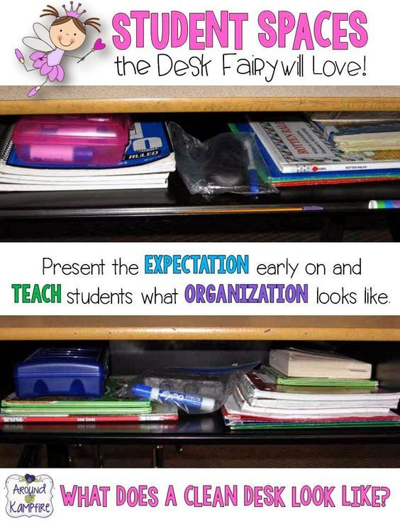 Student Spaces The Desk Fairy Will Love! Great tips for managing student spaces and teaching them to stay organized!