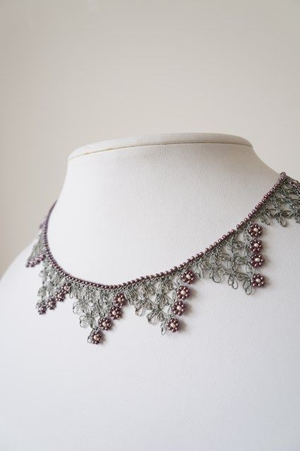 Toruko no oyaito yasan - ideas: use necklace chain as base for oya, incorporate beads at edges