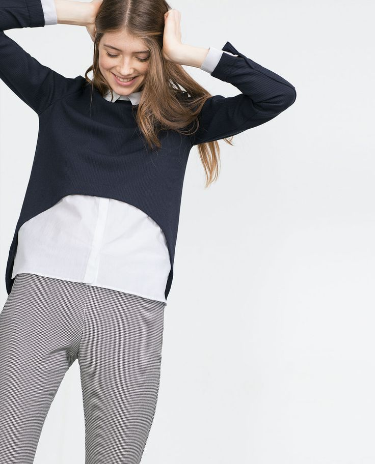 Image 2 of SHIRT-STYLE TOP from Zara