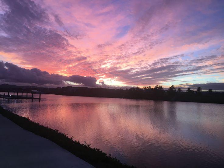 Hope island sunset