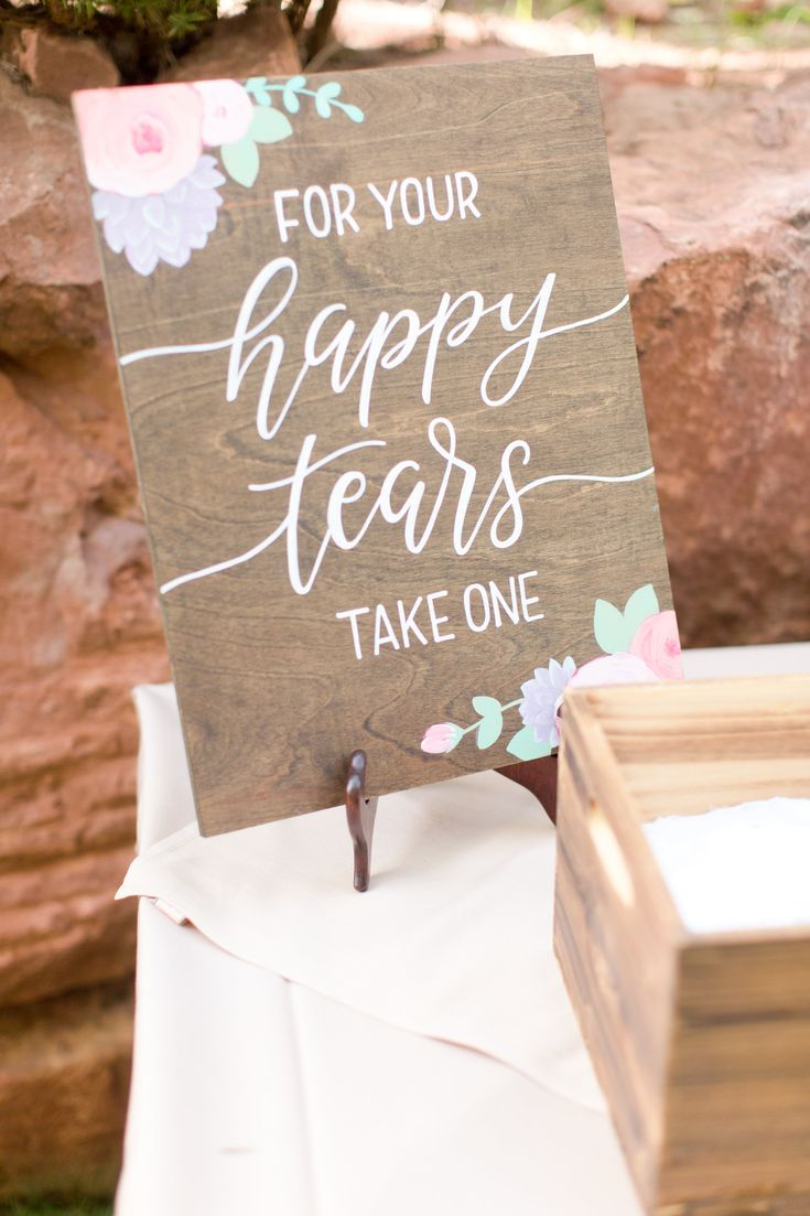 happy tears wedding sign