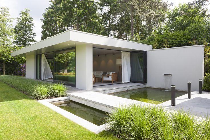Innenfotografie Eines Modernen Gartenpavillons In Turnhout Entworfen Von Paul Eines Entworfen Gartenhaus Gartenpavil Garten Pavillon Pavillon Garten
