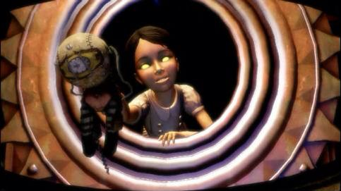 """Look Daddy, It's you!""  - Eleanor Lamb (as a little sister) to Subject Delta  In the BIOSHOCK 2 Prologue"