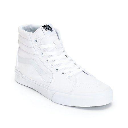 Vans Sk8-Hi Slim True White Skate Shoes (Womens) at Zumiez : PDP