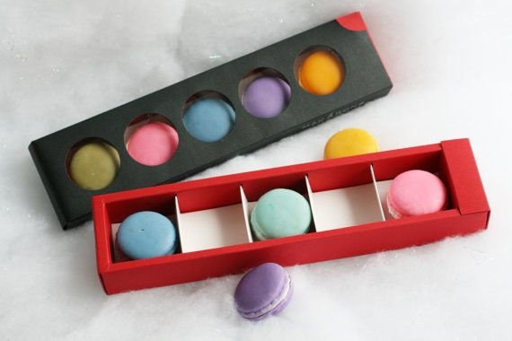Macaron Soap Gift Box Beautiful Cold Process by OneLeafSoap