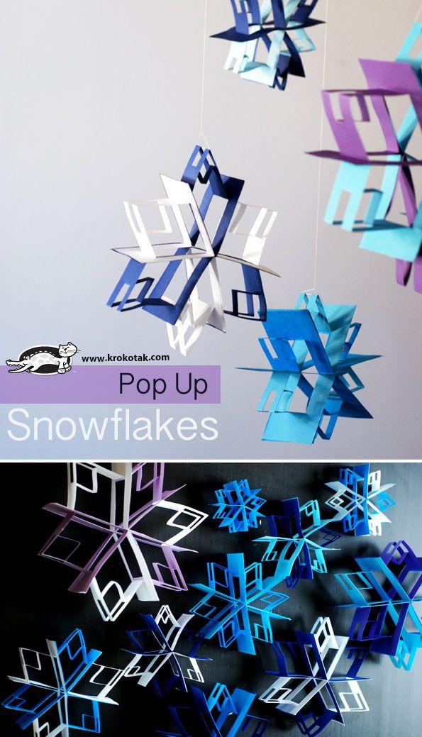 Pop Up snowflake craft