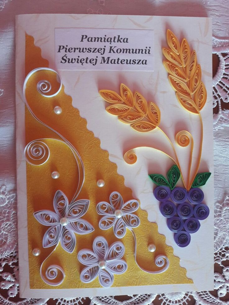 Communion card - quilling