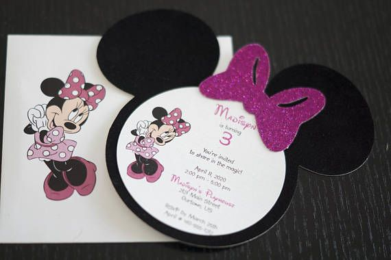 Minnie Mouse Shaped Birthday Glitter