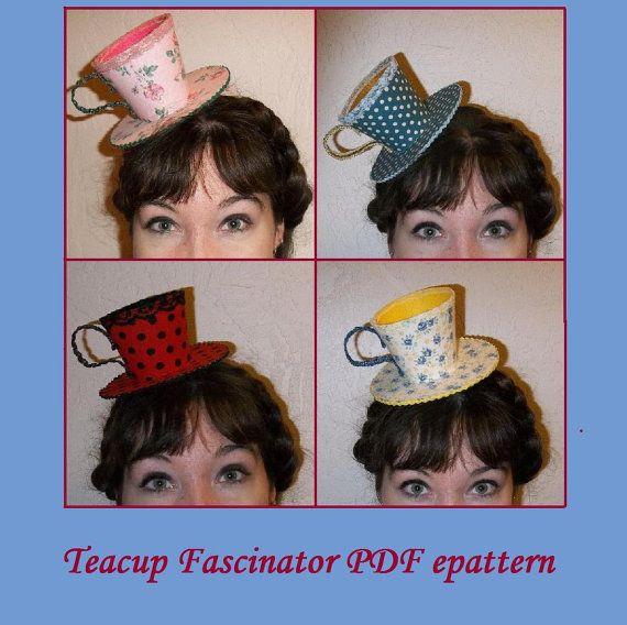Tea cup fascinators! https://www.etsy.com/listing/189970663/pdf-epattern-teacup-fascinator-diy