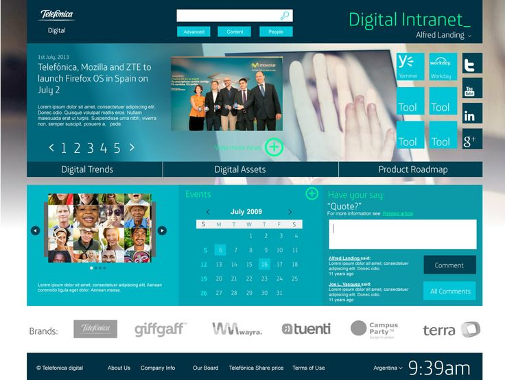 telefonica digital intranet - Intranet Design Ideas