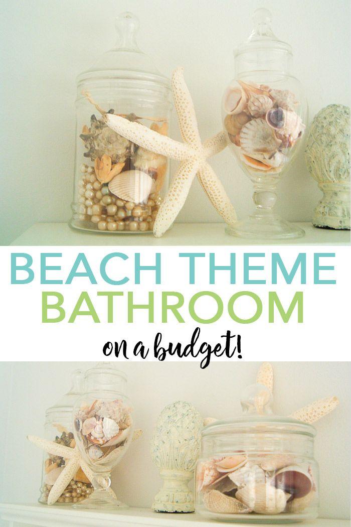 A Beach Themed Bathroom On A Budget Beach Theme Bathroom Beach