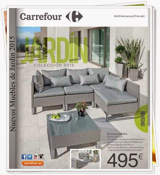 Catalogo Muebles de Jardin y Decoracion 2015 Carrefour