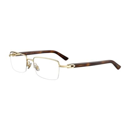 Cartier Eyeglasses Frames Mens : C Decor combined - Tortoiseshell effect composite, golden ...