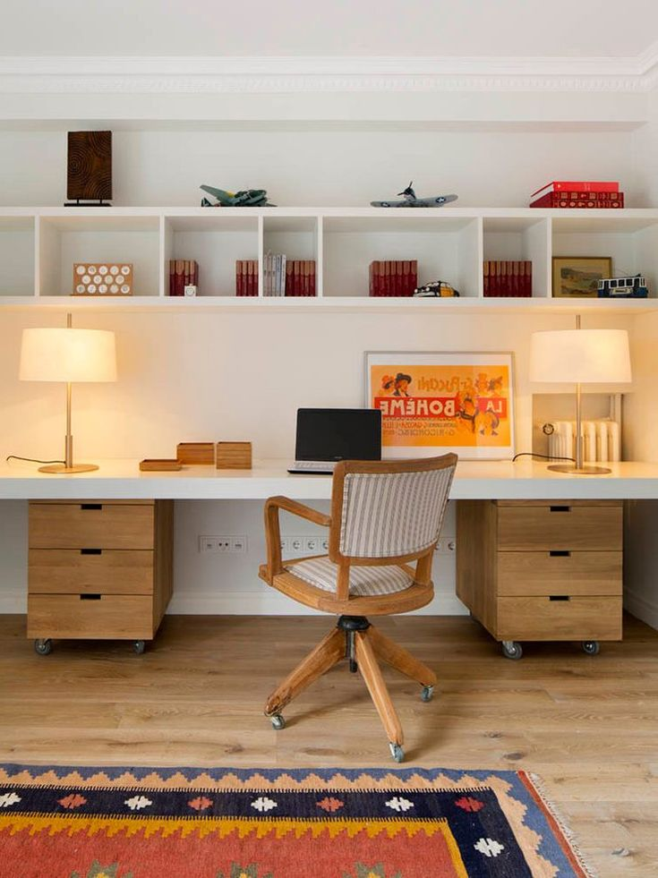 Mid century modern home office home office midcentury with desk lamps southwestern area rug desk lamps