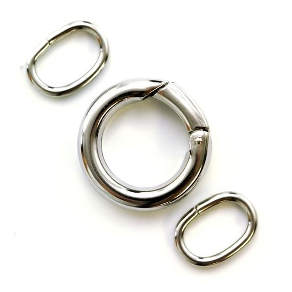 Triggerless Stainless Steel Clasp Round 21mm With 2 Matching Etsy Stainless Steel Clasp Stainless Steel Stainless Steel Rings