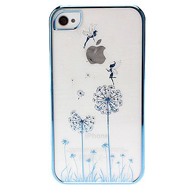 Butterfly Girl on the Dandelion Pattern Hard Case for iPhone 4/4S – USD $ 4.39