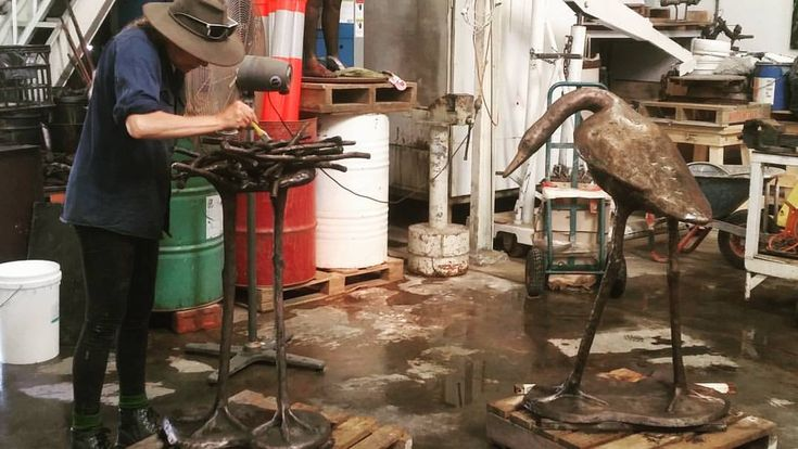 """17 Likes, 1 Comments - Jshed (@jshedfremantle) on Instagram: """"Garry Zeck sculpture, Bird with Nest, getting the finishing touches at the…"""""""