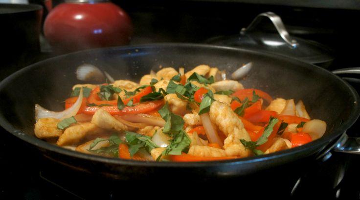 Basil Chicken Stir-Fry | Yummy Food | Pinterest